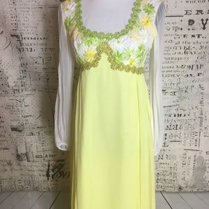 Beautiful Vintage 70's Daisy gown prom dress Small